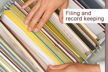 Filing and record keeping